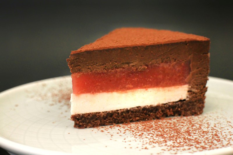 [Ketogenic Dessert] Strawberry Raw Chocolate │ Six 吋 │ The next strawberry season (December - January)