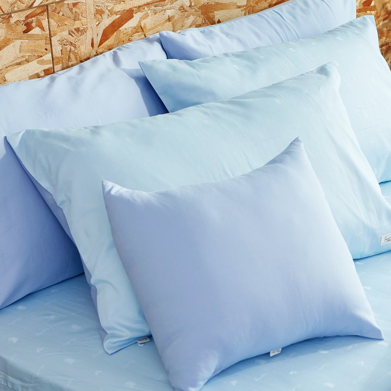 [Ultimate skin-friendly] Collagen skin beauty silk silk locust flower pillowcase - sky blue (2 into / group)
