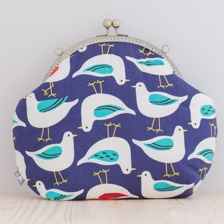 pigeon! How do you upside down (blue) / jinggou package / retro oblique bag / carry bag