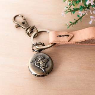Personalized Keychain With Angle Pocket Watch