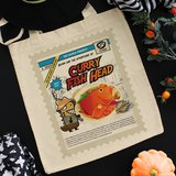 Tee-Saurus Happy Totes - Singapore Curry Fish Head Cotton Tote Bag