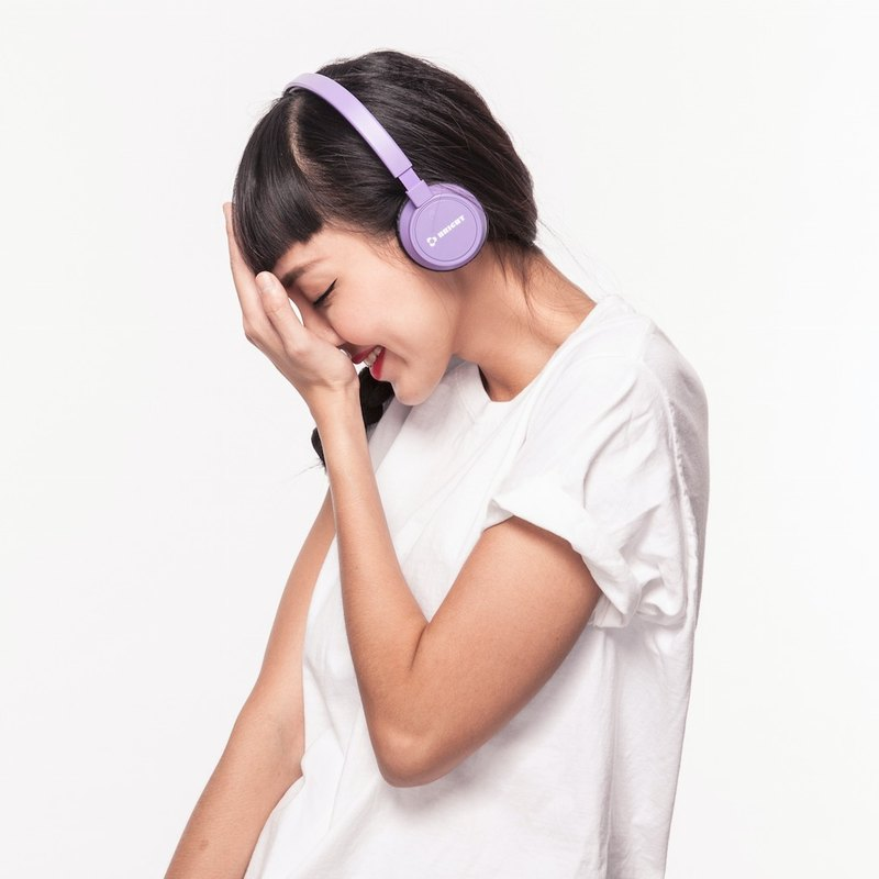"""BRIGHT"" JOYNFC wireless Bluetooth headset purple"