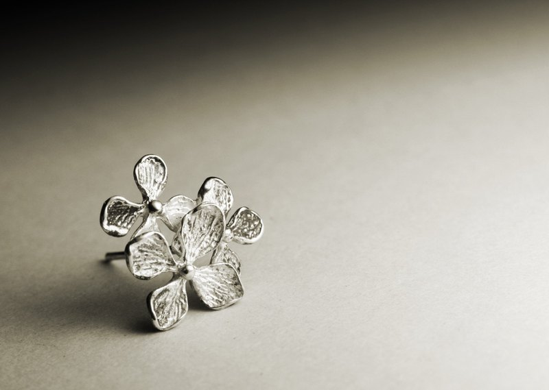Three lilac flower silver earrings (single / pair)