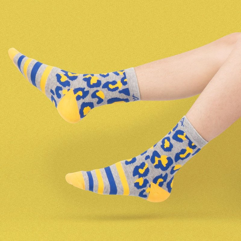 【Neo-classic Collection】Electric Leopard Sports Socks