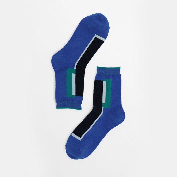 [Copy - Paste] OutOfOffice / Irregular Geometric Socks / Blue / Socks