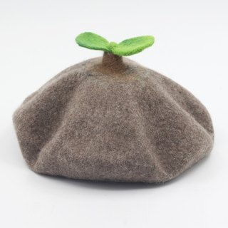 Ke people original handmade wool felt bass hat female autumn and winter sweet cute tide hat fashion wild bud
