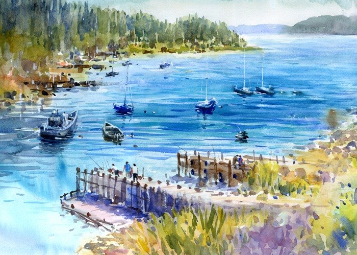 Watercolor Lunenberg 5 · Canada
