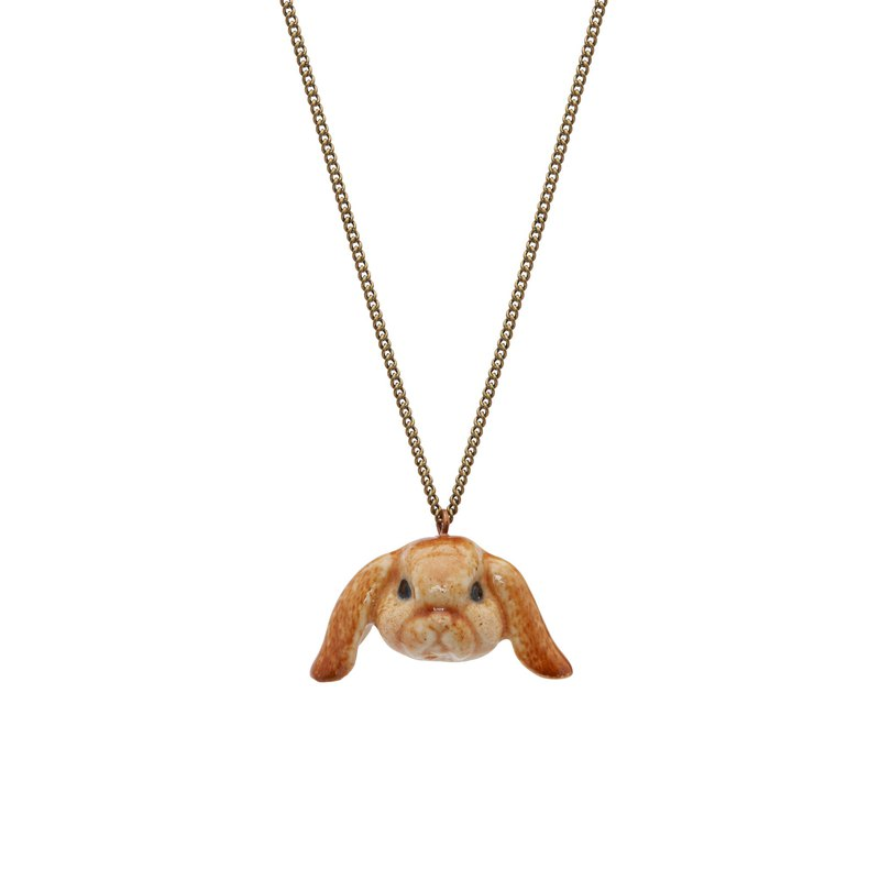 "And Mary Floppy Eared Bunny  Necklace | 18""/22"" 