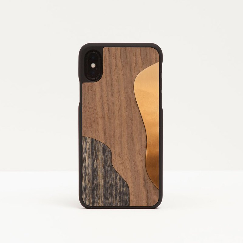 [Pre-order] Log phone case / inlaid gold brown - iPhone / Huawei