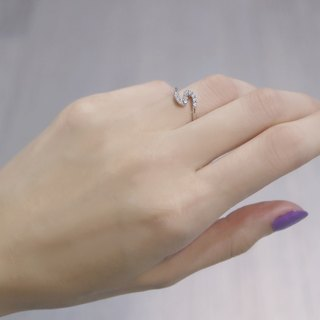 Simple S diamond ring