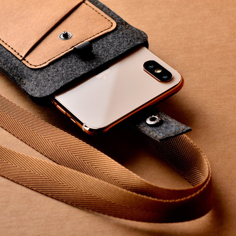 Neck-hanging phone case/standard version (small)_Yupin camel[Can add Lei carving characters]