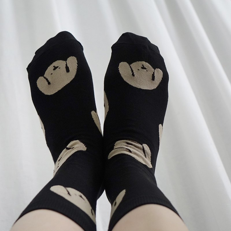 Dog black socks