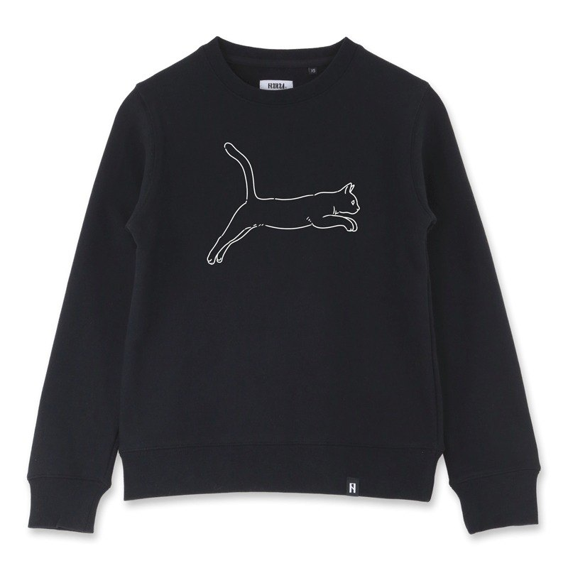 AMO®Original cotton adult Sweater/AKE/The Cat's Jumpping Like Puma Logo