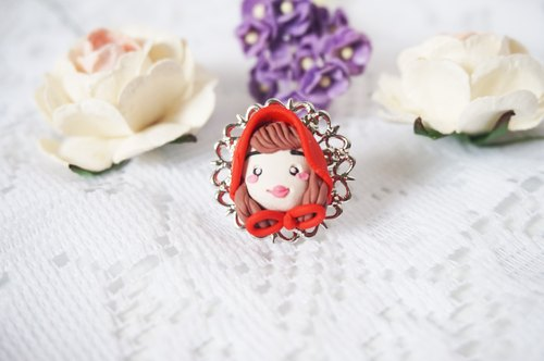 cute ring jewelry - Red Riding Hood