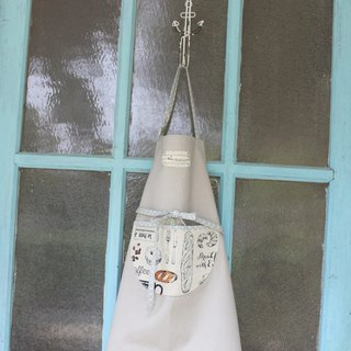[Moon hand-made ri paternity hand made aprons -! Oh Unisex (including five English letters or less)