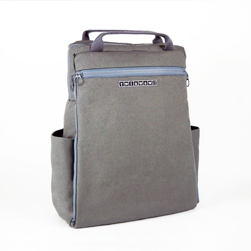 Classic Excellence - Detailed Textured Backpack - Dark Grey