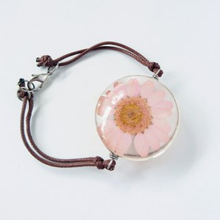 Pressed Pastel Pink Daisy Necklace