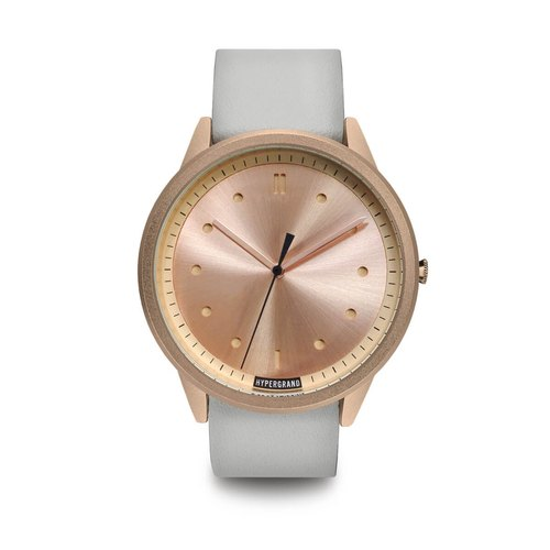 HYPERGRAND - 02 Basic Series - Rose Gold Dial White Leather Watch