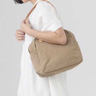 Mushroom MOGU / canvas shoulder bag / cinnamon / Yurt