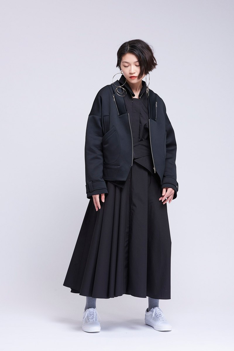 [Contactee] modeling collar coat -2017 new autumn and winter