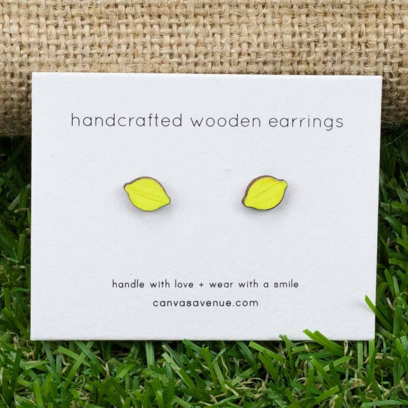 Lemon Earrings, Lemon Stud Earrings