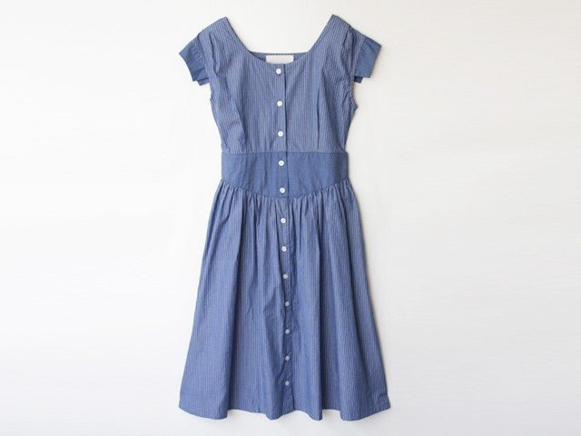 Striped dress - Blue stripe 8512-04007-30