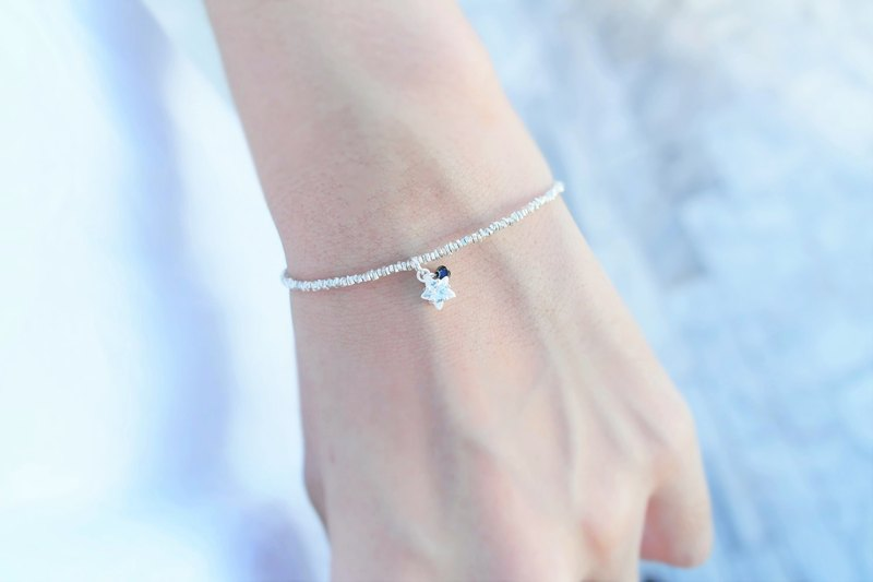 Birthday Ceremony:: Birthday crystal:: sterling silver star wishing silver bracelet 13 colors (2.0)
