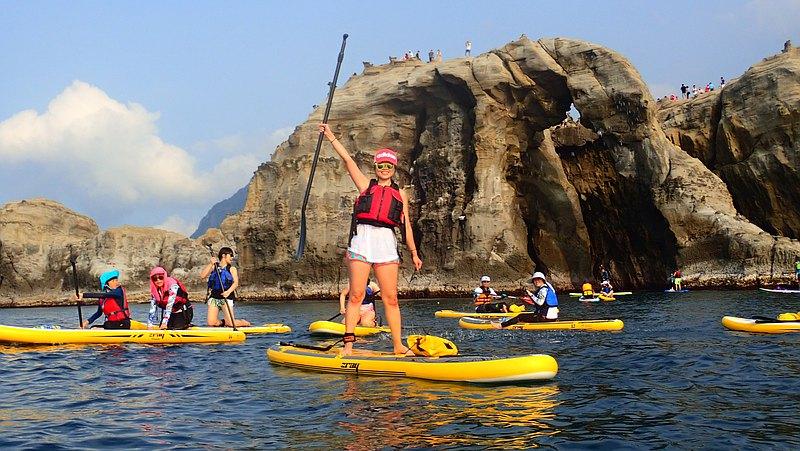 新北・象鼻岩 SUP 體驗・一起划去海上看大象