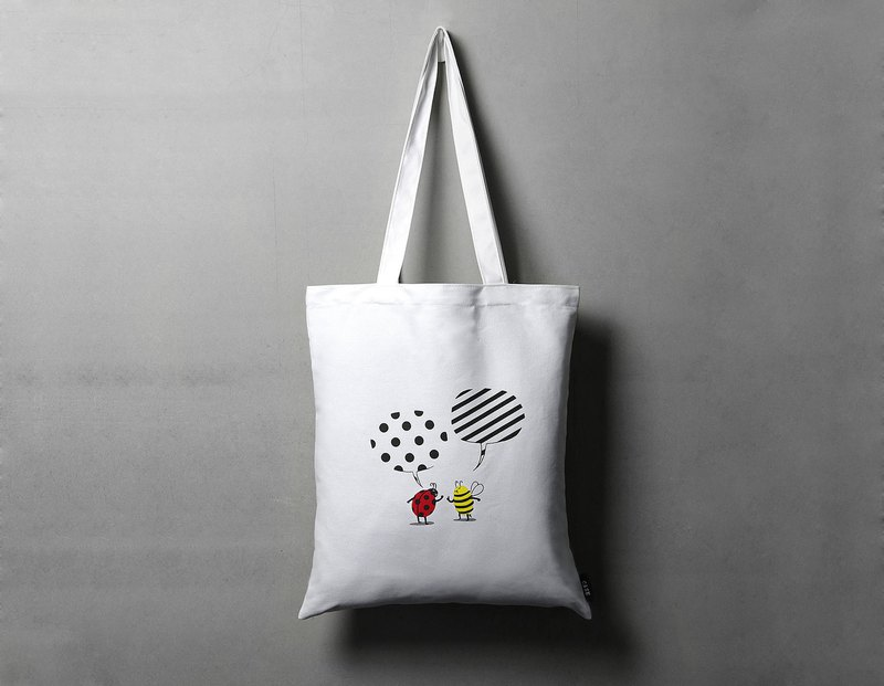 Pattern Conflict Bee Ladybug Tote Bag