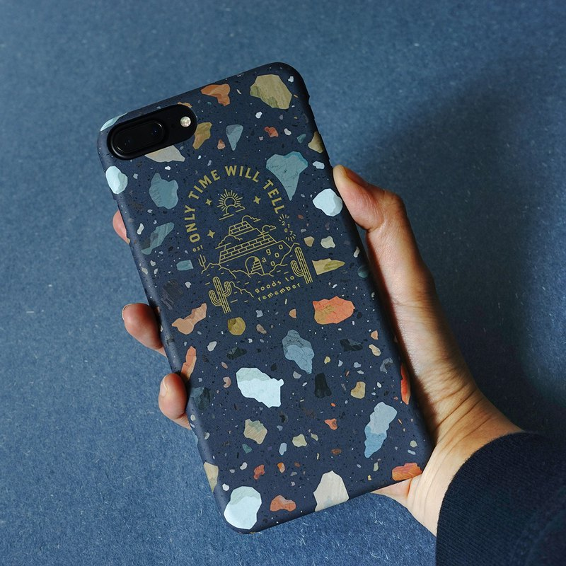 Cosmic Dark Blue Stone - Mobile Shell iphone 7 / 7+ / 8 / 8+ / X