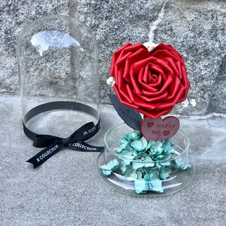 Heart-Sharp Leather Rosa Glass Decoration