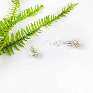Small fun bulb asymmetric sterling silver hypoallergenic earrings exchange gifts