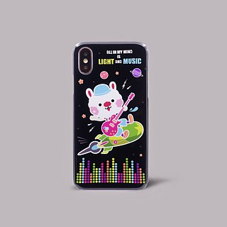 iPhone X rabbit music space shuttle planet cute hard shell phone case ARIPHX-OL / SSR-03-1