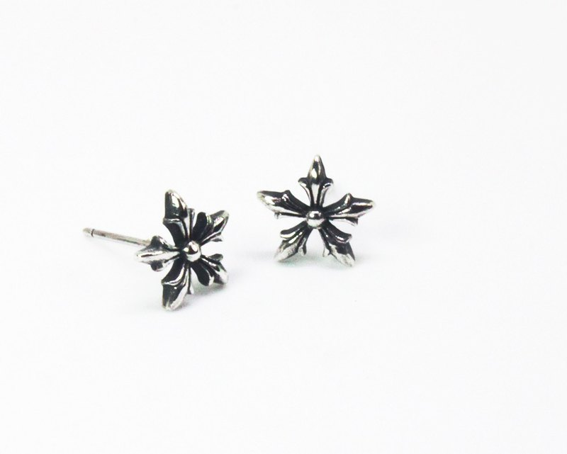 [925 silver] arrow flower ear