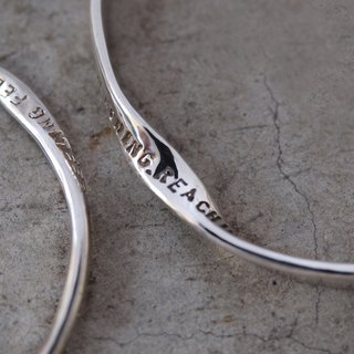 LOVE by John Lennon [Traveler's Poetry Bracelet #MOBIUS-925-L]