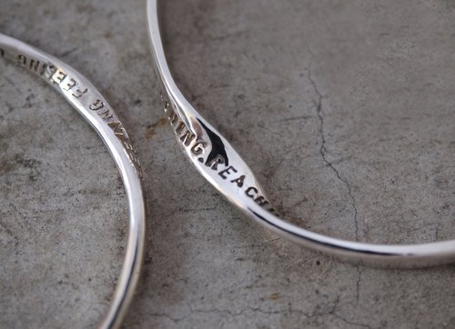 LOVE by John Lennon [Traveler's Poem Bracelet #MOBIUS-925-L]