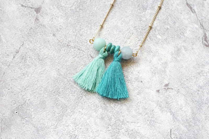 Tassel necklace - 14K gold chain