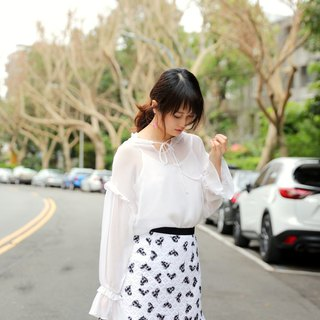 MIT Love Lace Wave Skirt (R5023B)