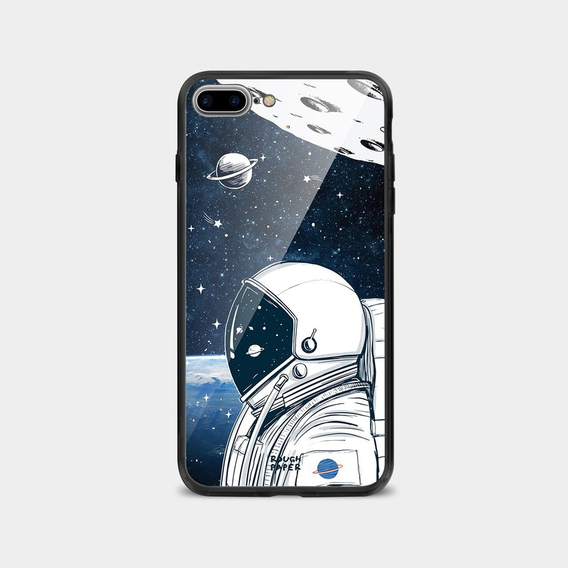 Spaceman Space Exploration | Tempered Glass Case | Mobile Shell