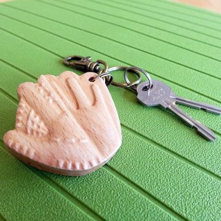 [Sports Series] baseball key ring baseball // wooden key ring pendant