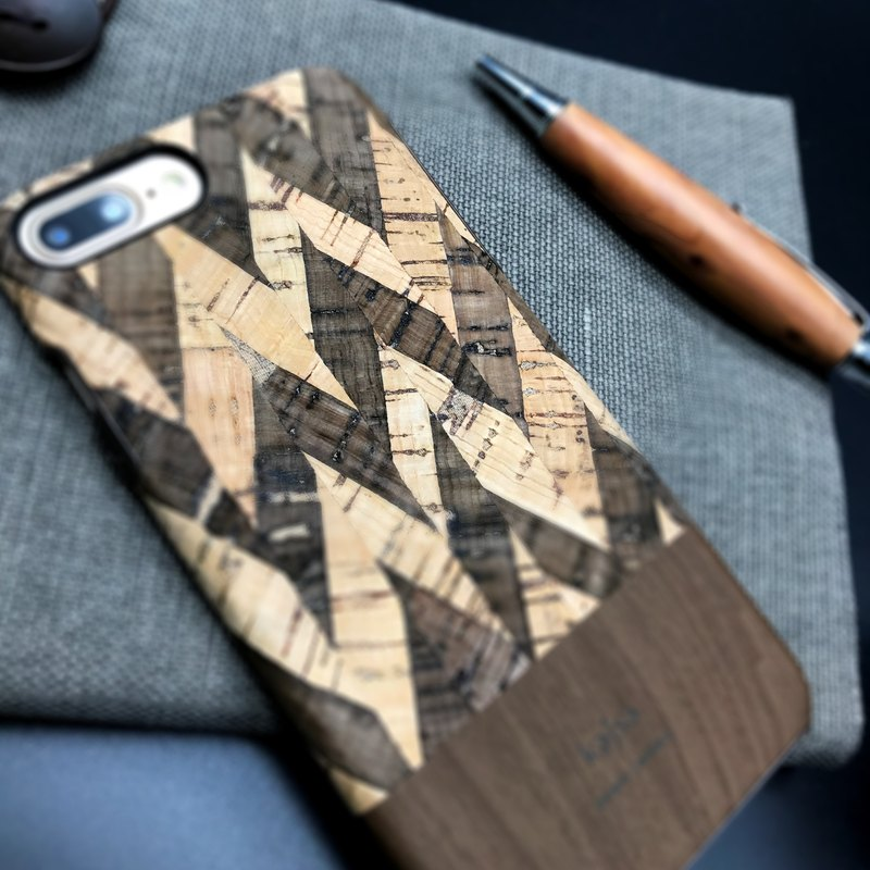 Cork single cover mobile phone case deep coffee