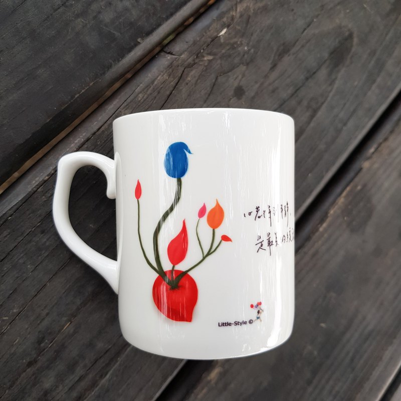 Bone China Mug-Peaceful Heart (Customized)