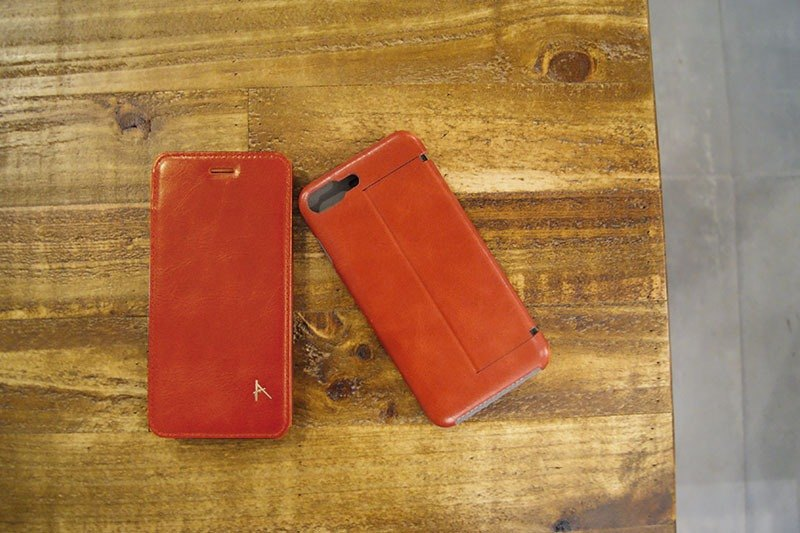 Optima iPhone 8/7 Plus Side Clamshell Leather Series Honey Brown