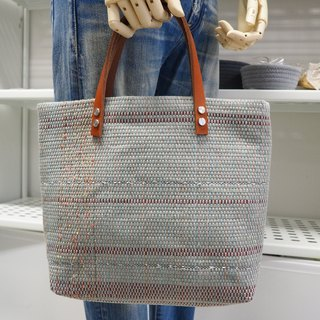 Exclusive leather paper woven bag TOTE BAG handbag