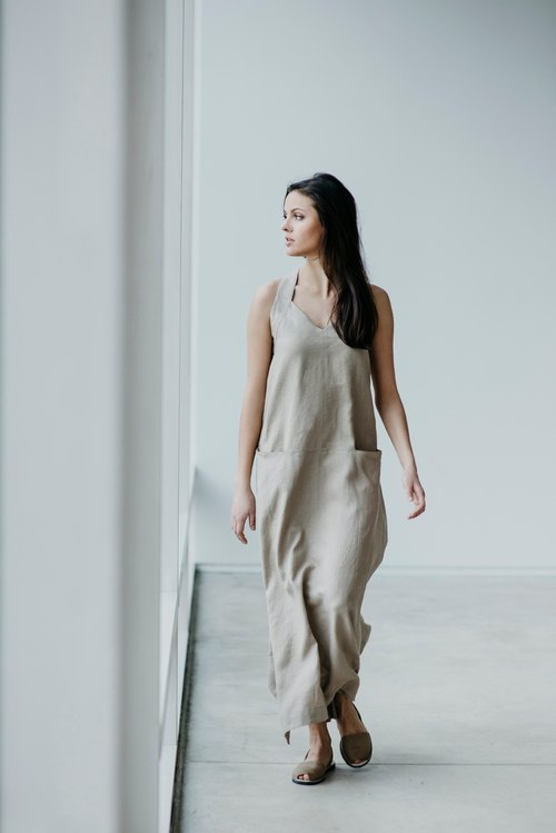Linen Dress Motumo 15S13