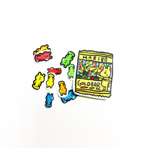 Gummy candy sticker single sale