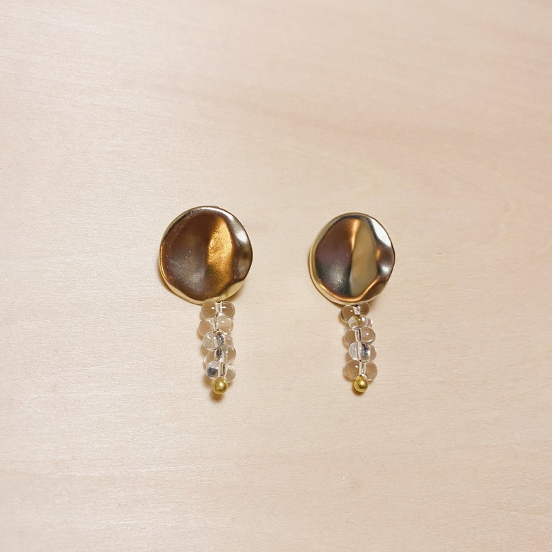 Vintage detachable dual-use transparent fruit earrings