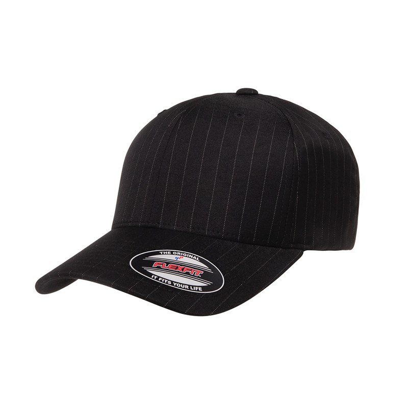 Piece Yupoong-Profile Pinstripe Flexfit ::Black/White::