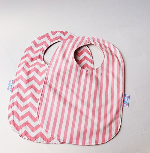 Sided bibs baby bibs cotton baby bibs Chevron / Stripes 2 in 1