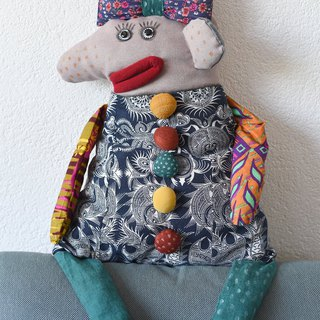 Marfa - pillow-puppet, original handmade doll